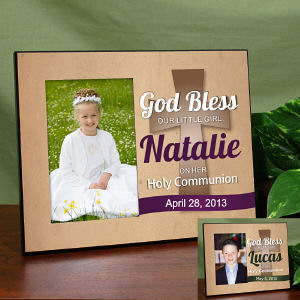 Personalized God Bless Holy Communion Printed Frame