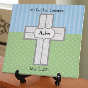 Personalized My First Communion Canvas