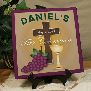 Personalized First Communion Canvas