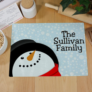 Let It Snow Personalized Cutting Board 63125413