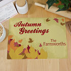 Autumn Greetings Personalized Cutting Board 63129993