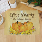 Personalized Thanksgiving Cutting Board