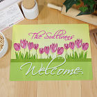 Spring Tulips Personalized Cutting Board 63133283