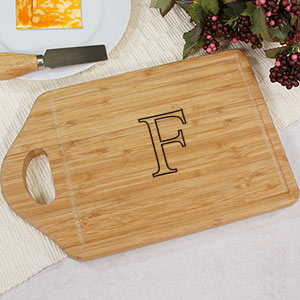 Monogrammed Bamboo Cheese Cutting Carving Board L608630
