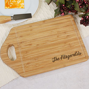 Engraved Bamboo Cheese Carving Board | Personalized Cutting Boards