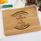 Engraved Established In Bamboo Cheese Board