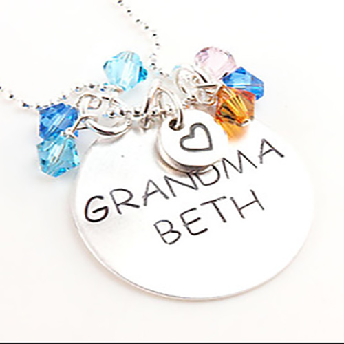 Personalized Any Name Hand Stamped Necklace | Personalized Mom Jewelry