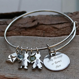 Personalized Kids Wire Bracelet DKBWBEKIDS