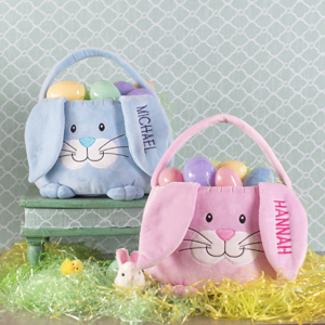 Embroidered Bunny Baskets E000313X
