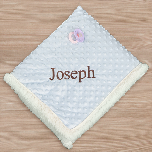 Embroidered Any Name Baby Sherpa Blanket | Personalized Baby Gifts