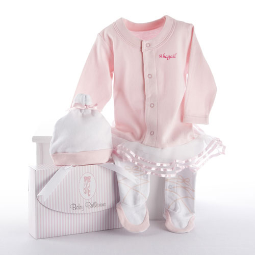 Ballerina Personalized Baby Outfit Set | Personalized Baby Gifts