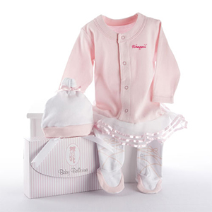 Personalized Baby Ballerina Outfit Set | Personalized Baby Gifts