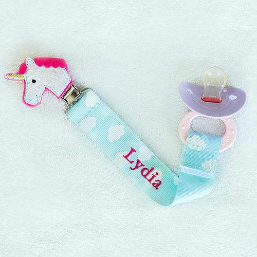 Personalized Any Name Unicorn Pacifier Clip | Unique Baby Gifts