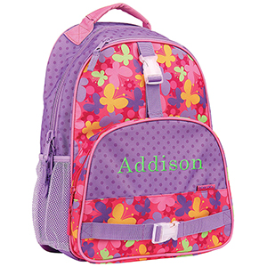 Embroidered Girls Butterfly Backpack | Personalized Kids Backpacks