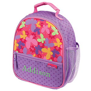 Embroidered Girls Butterfly Lunch Box | Personalized Lunch Boxes