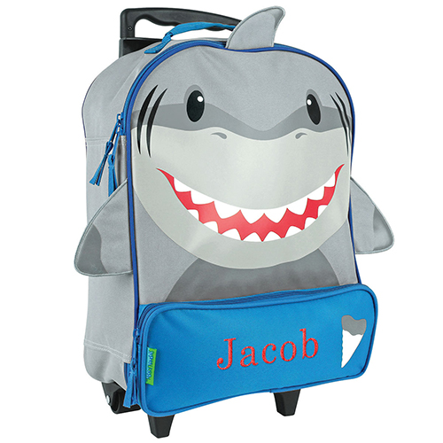 Personalized Shark Rolling Luggage Bag | Personalized Owl Rolling Luggage Bag | Personalized Kids Luggage