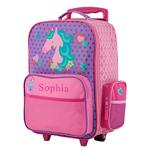Personalized Unicorn Rolling Luggage Bag | Personalized Kids Luggage