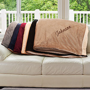 Any Name Embroidered Sherpa Blanket