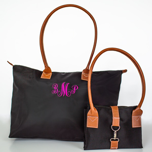 Embroidered Monogram Tote Bags E10080320X