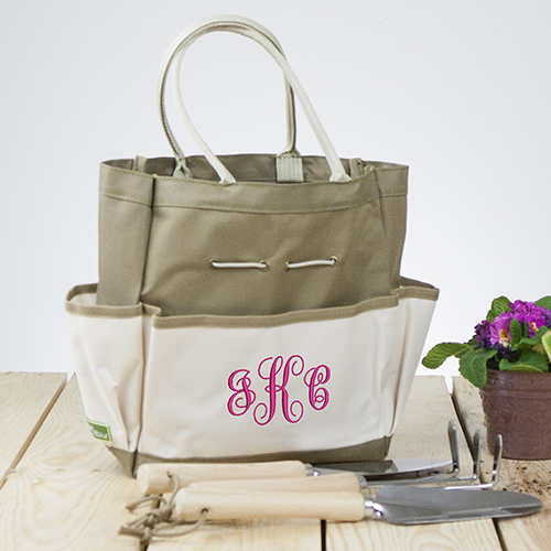 Embroidered Monogram Tool Tote Bag | Personalizable Totes