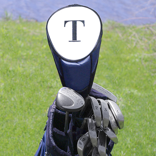 Embroidered Leatherette Golf Club Cover | Personalized Golf Gifts for Dad