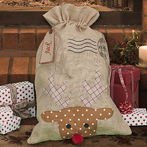 Personalized Gift Santa Sack - Reindeer E10677290