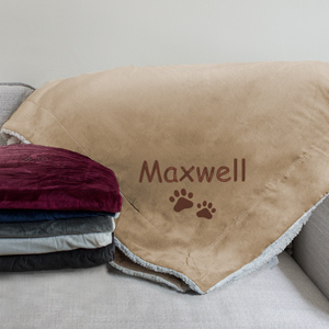 Embroidered Pet Embroidered Sherpa | Personalized Blankets