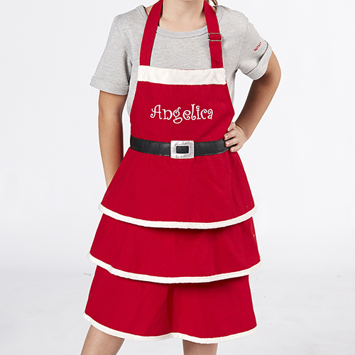 Embroidered Mrs. Claus Child Apron E10838292