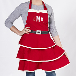 Embroidered Mrs. Claus Adult Apron | Personalized Christmas Aprons