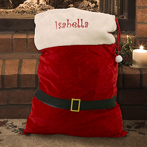 Embroidered Large Santa Gift Bag E10840294