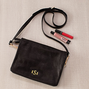Embroidered Black Palmer Crossbody E10855307