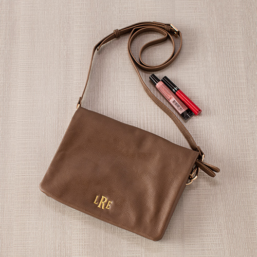 Embroidered Taupe Palmer Crossbody E10885308