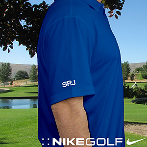 Personalized Nike Dri-Fit Photo Blue Polo Shirt