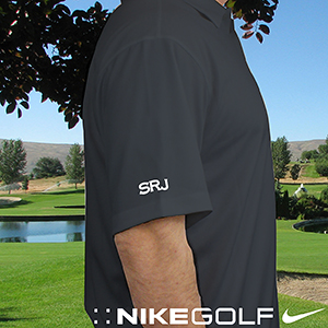 Personalized Nike Dri-Fit Dark Gray Polo Shirt | Personalized Grandpa Gifts