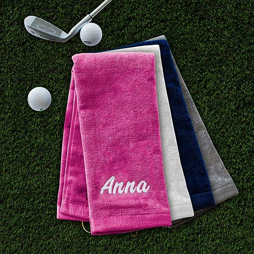Embroidered Name Golf Towel | Personalized Golf Towels