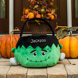 Embroidered Frankenstein Trick or Treat Basket