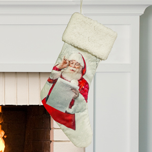 Santas Christmas List Stocking | Personalized Christmas Stockings
