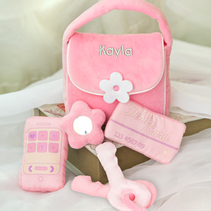 Embroidered Plush Baby Purse | Personalized Gifts For Baby Girls