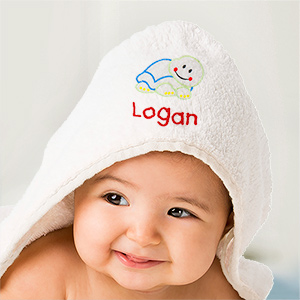 Personalized Turtle Hooded Baby Towel | Personalized Baby Gifts