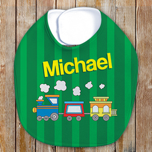 Personalized Choo Choo Train Baby Bib E394533