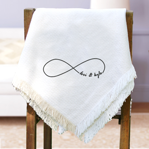 Embroidered Couples Throw E7764147