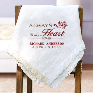 Embroidered Memorial Throw Blanket E7945147