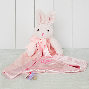 Embroidered Any Name Plush Bunny | Unique Baby Shower Gifts