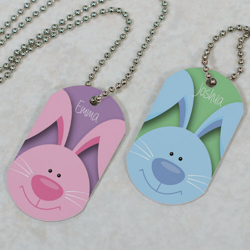 Personalized Easter Bunny Dog Tag 373991