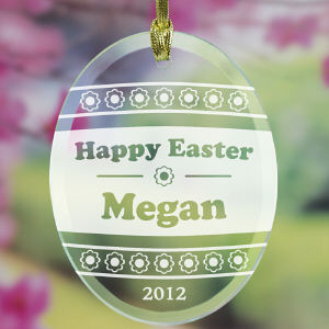 Engraved Easter Egg Suncatcher