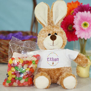 Embroidered Cuddles Bunny with Candy