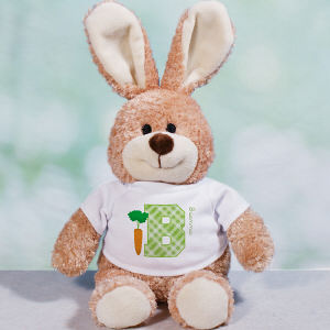 Personalized Easter Initial Bunny