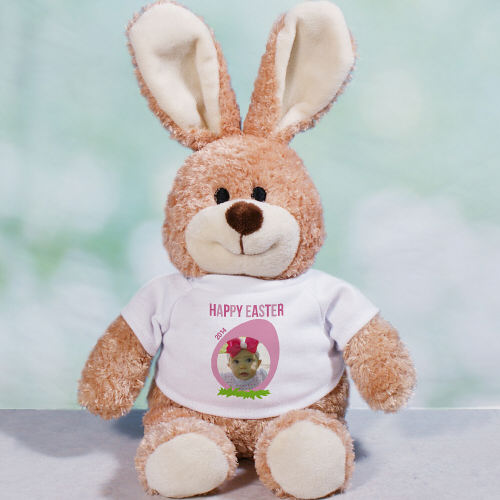 Personalized Happy Easter Photo Bunny | Plush Bunnies