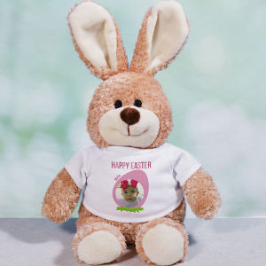 Personalized Happy Easter Photo Bunny