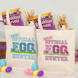 Personalized Easter Egg Tote Bag for Kids